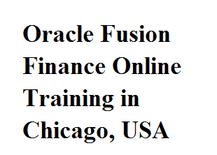 Oracle Fusion Finance Online Training in Chicago, USA Course image