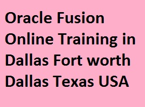 Oracle Fusion Online Training in Dallas Fort worth, Dallas, Texas, USA Course image
