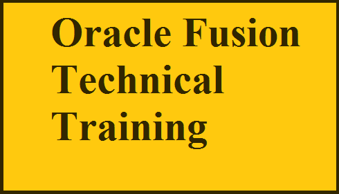 Oracle Fusion Technical Training Course image