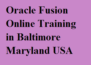 Oracle Fusion Online Training in Baltimore, Maryland, USA Course image