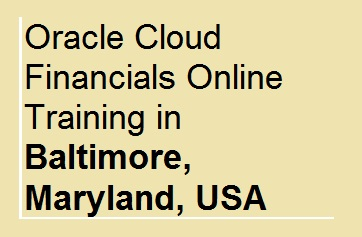 Oracle Cloud Financials Online Training in Baltimore, Maryland, USA Course image