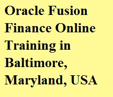Oracle Fusion Finance Online Training in Baltimore, Maryland, USA Course image