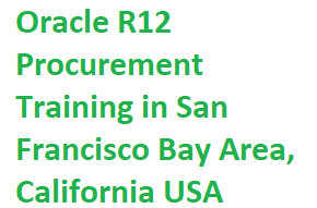 Oracle R12 Procurement Training in San Francisco Bay Area, California USA Course image