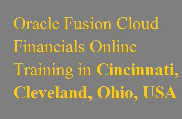 Oracle Fusion Cloud Financials Online Training in Cincinnati, Cleveland, Ohio, USA Course image