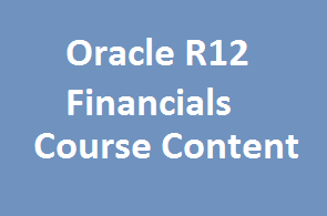 course Image of Oracle R12 Financials Course Content