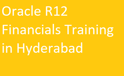 Oracle R12 Financials Training in Hyderabad Course image