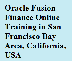 Oracle Fusion Finance Online Training in San Francisco Bay Area, California, USA Course image