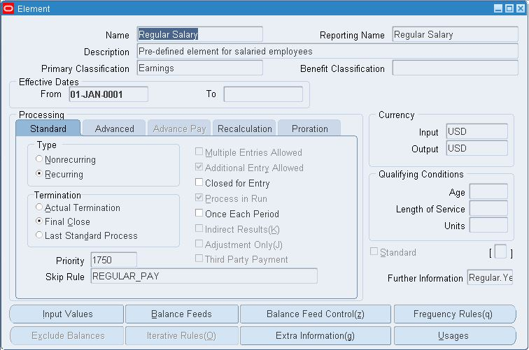 Oracle Apps Payroll Setup & Configurations