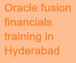 Oracle Fusion Finance Training Hyderabad